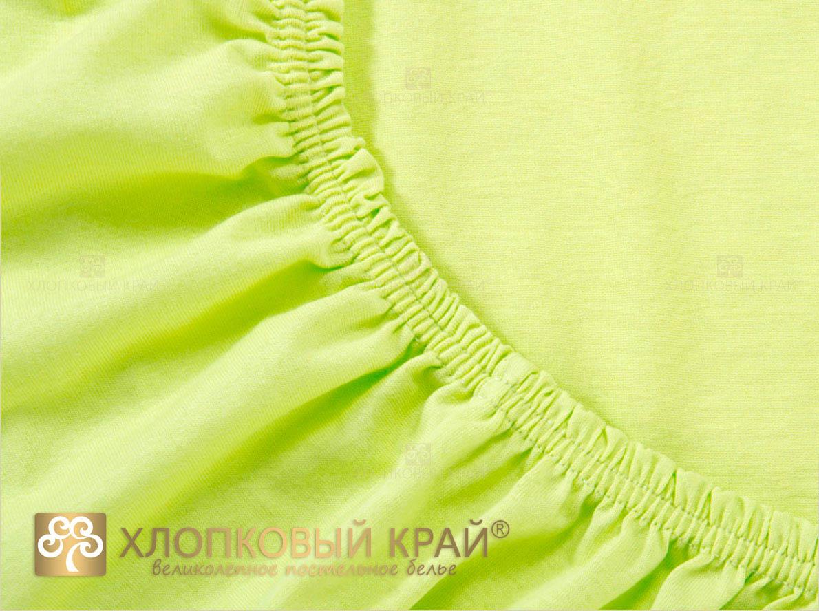 Простыни Хлопковый Край Простыня на резинке Mimoza Цвет: Лимонный (140х200) простыня на резинке хлопковый край