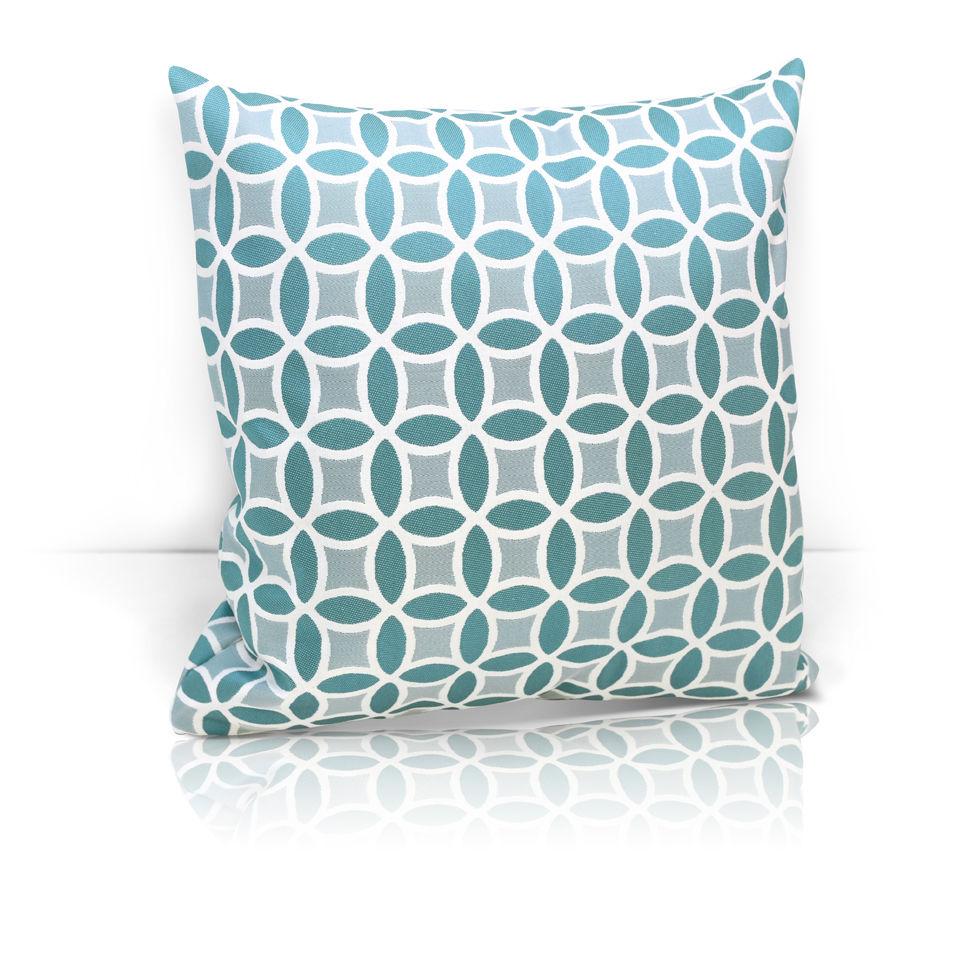 где купить Декоративные подушки Kauffort Декоративная подушка Lubawa Цвет: Бирюзовый (40х40) по лучшей цене