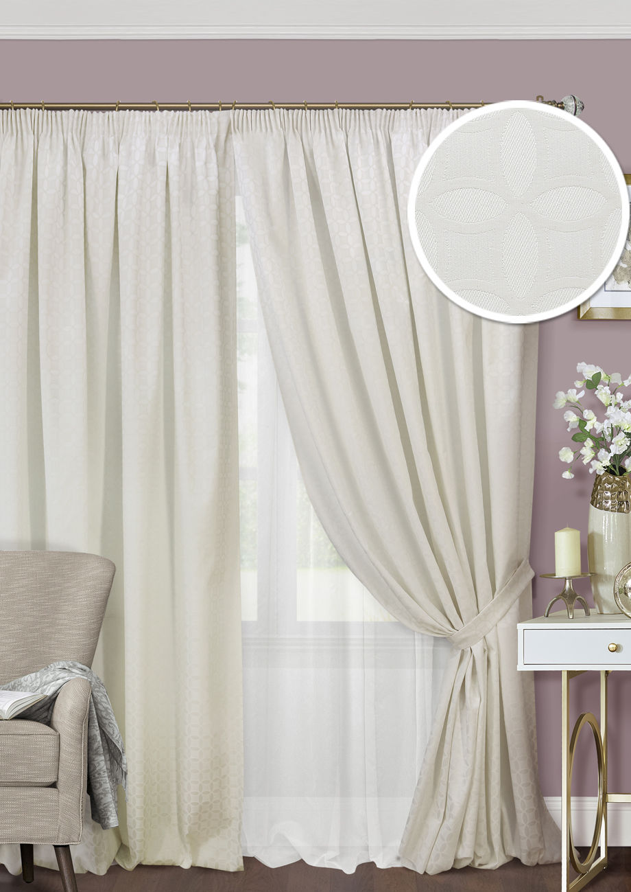 Шторы Kauffort Классические шторы Lubawa Цвет: Молочный шторы kauffort классические шторы barolo