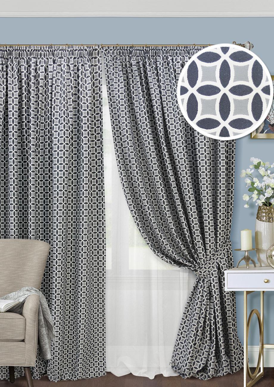 Шторы Kauffort Классические шторы Lubawa Цвет: Темно-Серый шторы tac классические шторы winx цвет персиковый 200x265 см
