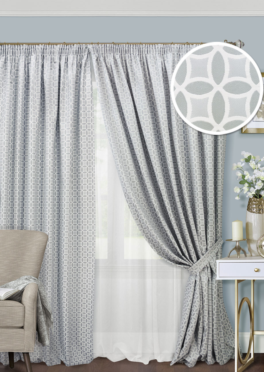 Шторы Kauffort Классические шторы Lubawa Цвет: Серый шторы tac классические шторы winx цвет персиковый 200x265 см