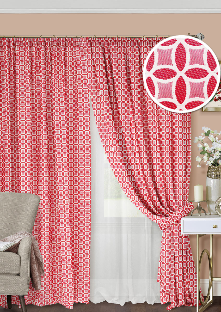 Шторы Kauffort Классические шторы Lubawa Цвет: Красный шторы kauffort классические шторы barolo