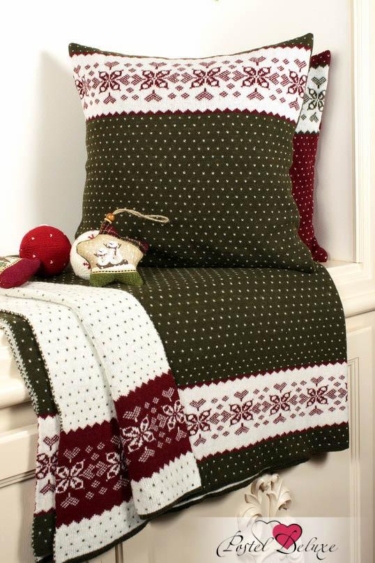 Декоративные подушки Luxberry Декоративная наволочка Norway Цвет: Зеленый-Белый-Бордовый (45х45) бусы авантюрин зеленый 45 см