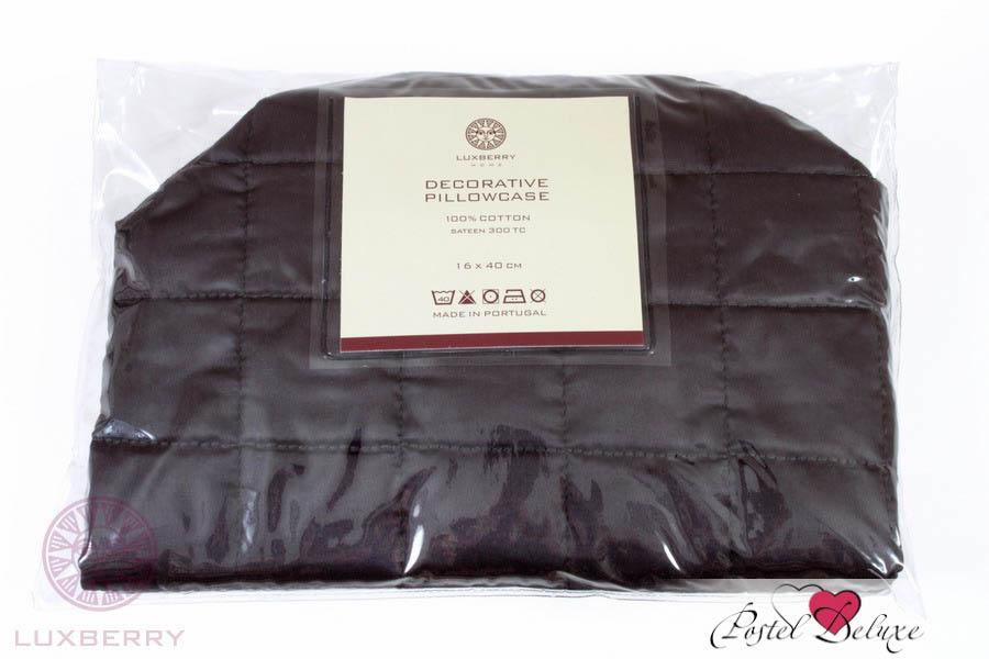 Декоративные подушки Luxberry Декоративная наволочка Squares Цвет: Графитовый (16х40) luxberry squares