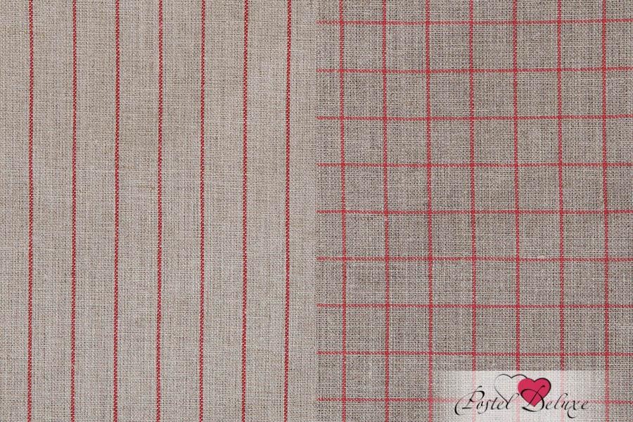 {} Luxberry Кухонное полотенце Timeless Maxi Цвет: Натуральный-Красный (50х70 см - 2 шт)