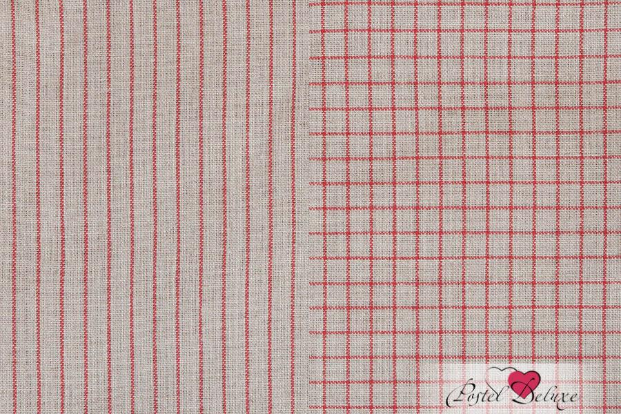 {} Luxberry Кухонное полотенце Timeless Mini Цвет: Натуральный-Красный (50х70 см - 2 шт)