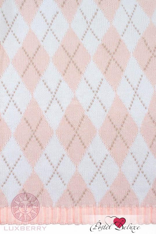 Детские покрывала, подушки, одеяла Luxberry Детский плед Imperio 252 Цвет: Розовый-Белый-Бежевый (75х100 см) luxberry плед детский в кроватку luxberry imperio 77 100х150 см арт 01309 00699 00700