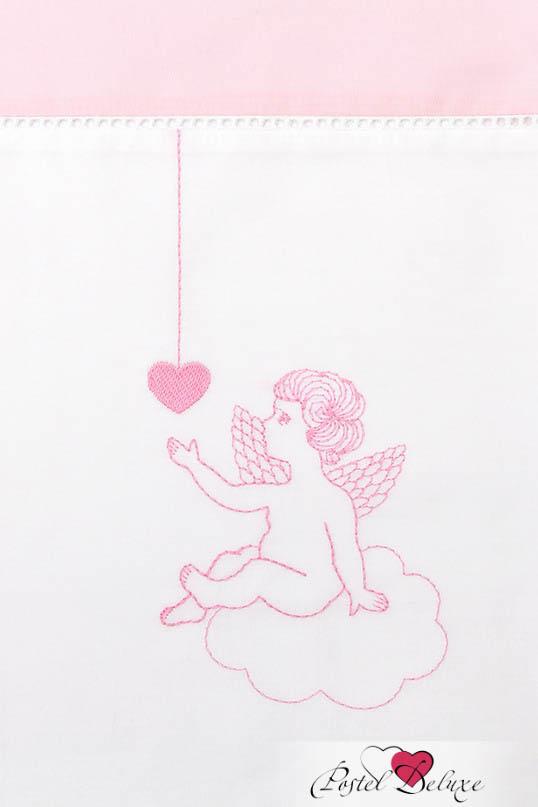 Детское Постельное белье Luxberry Постельное белье Angels Цвет: Белый-Розовый (100х140 см) ермолино детское байковое 100х140 см