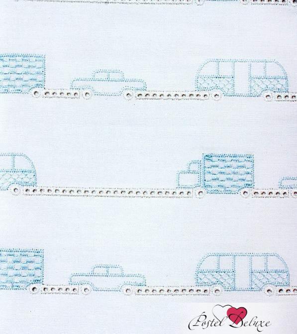 Детское постельное белье и комлекты Luxberry Бампер в кроватку Машинки Цвет: Белый-Голубой плед luxberry imperio 10 умбра