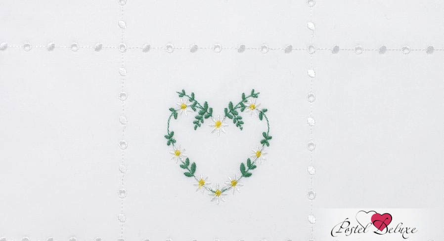 Детское Постельное белье Luxberry Постельное белье Сердечки Цвет: Белый-Зеленый-Желтый (100х140 см) плед luxberry imperio 10 умбра