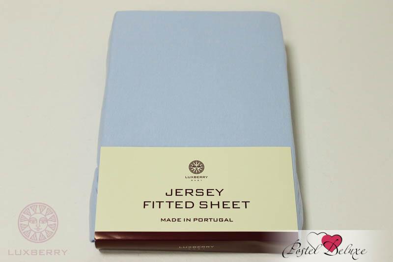 Простыни Luxberry Детская простыня Lorri Цвет: Голубой (75х130) простыни candide простыня bamboo fitted sheet 130г м2 60x120 см