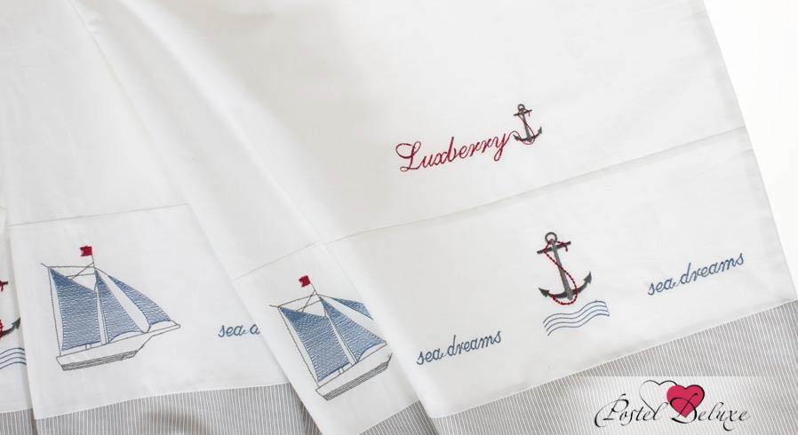 Постельное белье Luxberry Постельное белье Sea Dreams Цвет: Белый-Синий (1,5 спал.) плед luxberry imperio 10 умбра