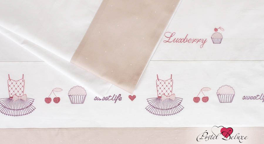 Постельное белье Luxberry Постельное белье Sweet Life Цвет: Белый, Жемчужно-Розовый (1,5 спал.) детский комплект luxberry sweet life простыня без резинки