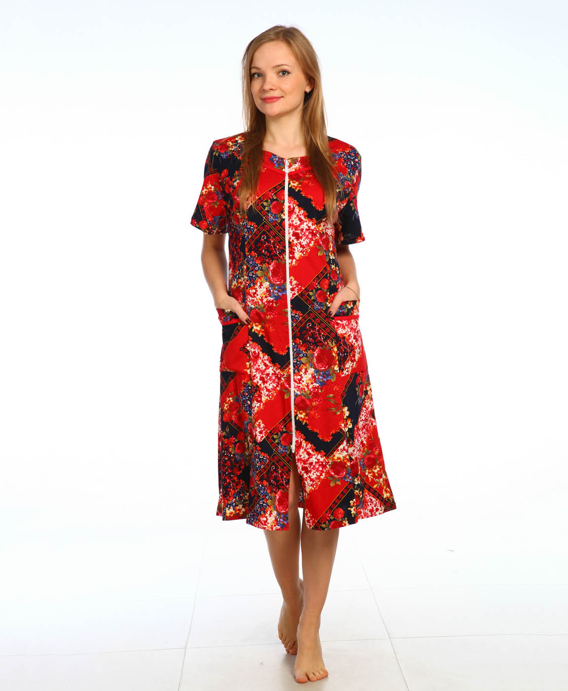 Домашние халаты Pastilla Домашний халат Лира Цвет: Красный (L-xL) домашние халаты vivien домашний халат funny l