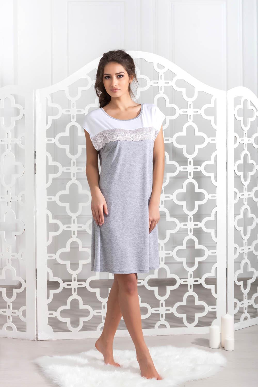 Ночные сорочки Pastilla Ночная сорочка Ласса 2 Цвет: Серый Меланж (xxL-xxxL) сорочка casmir vegas xxl xxxl
