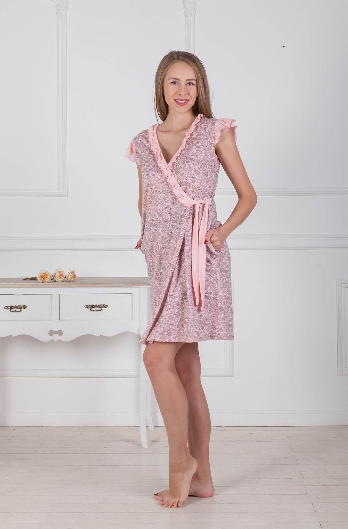 Домашние халаты Pastilla Домашний халат Лотос Цвет: Розовый (xL-xxL) домашние халаты mia mia домашний халат yesenia xl