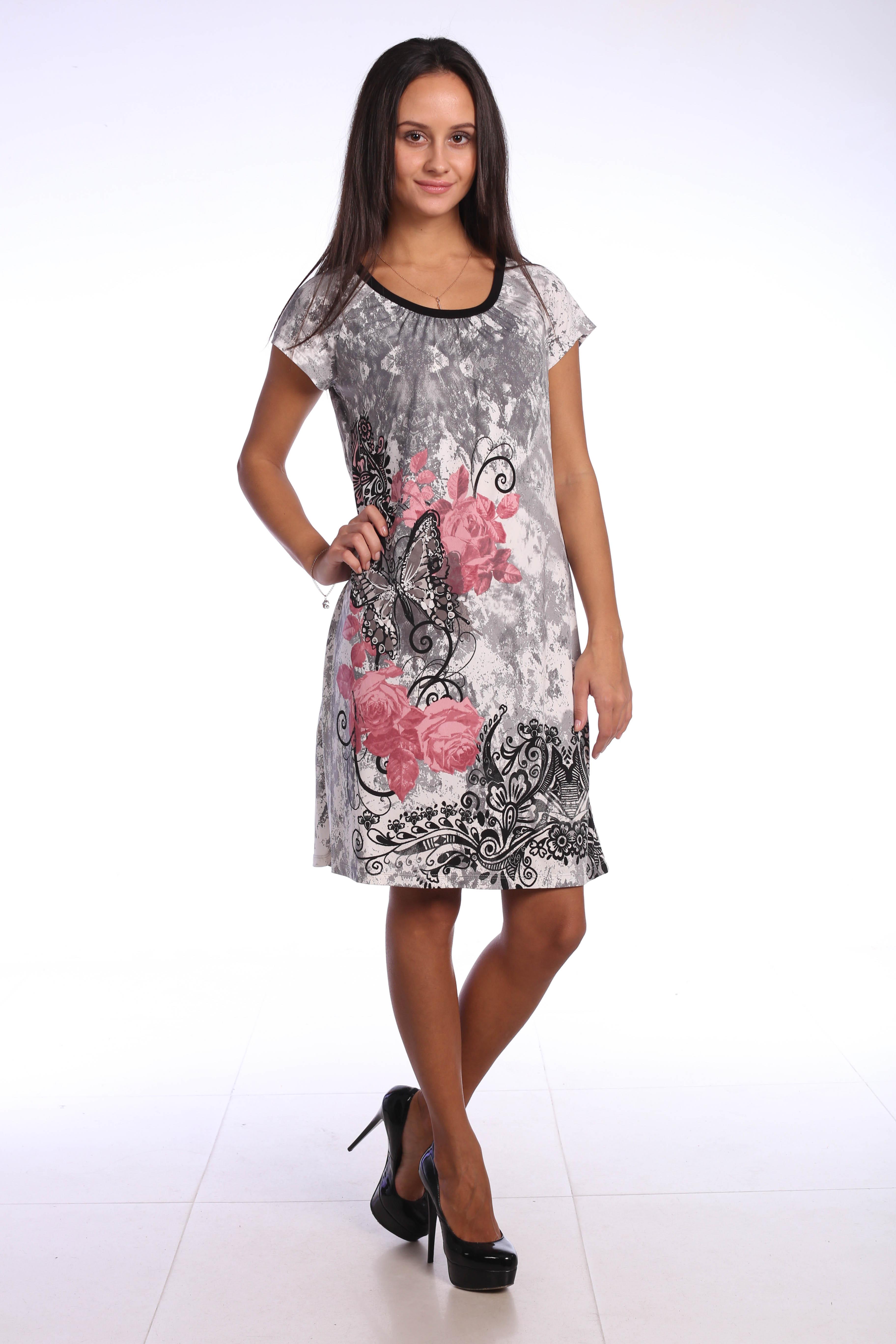 Костюмы для дома и отдыха Pastilla Платье Фиалка Цвет: Сливовые Бабочки (M)