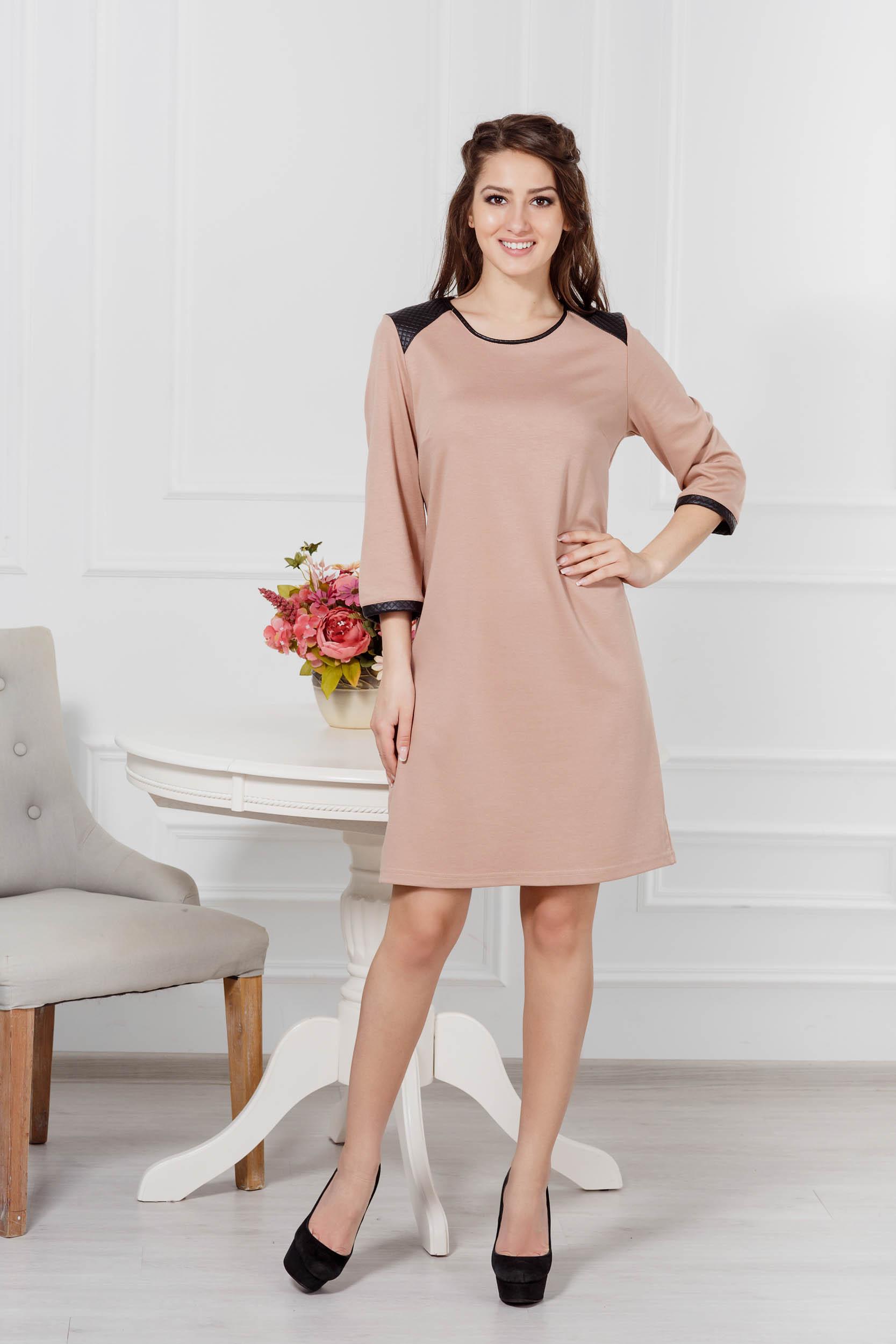 где купить Костюмы для дома и отдыха Pastilla Платье Милан Цвет: Бежевый (L-xL) по лучшей цене