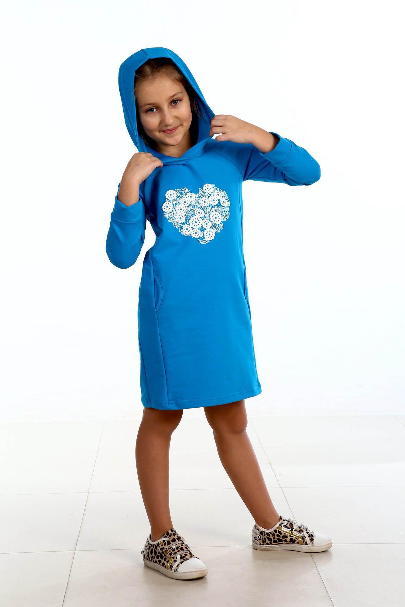 Детские туники, сарафаны Pastilla Туника Сердечко Цвет: Бирюза (4-5 лет)