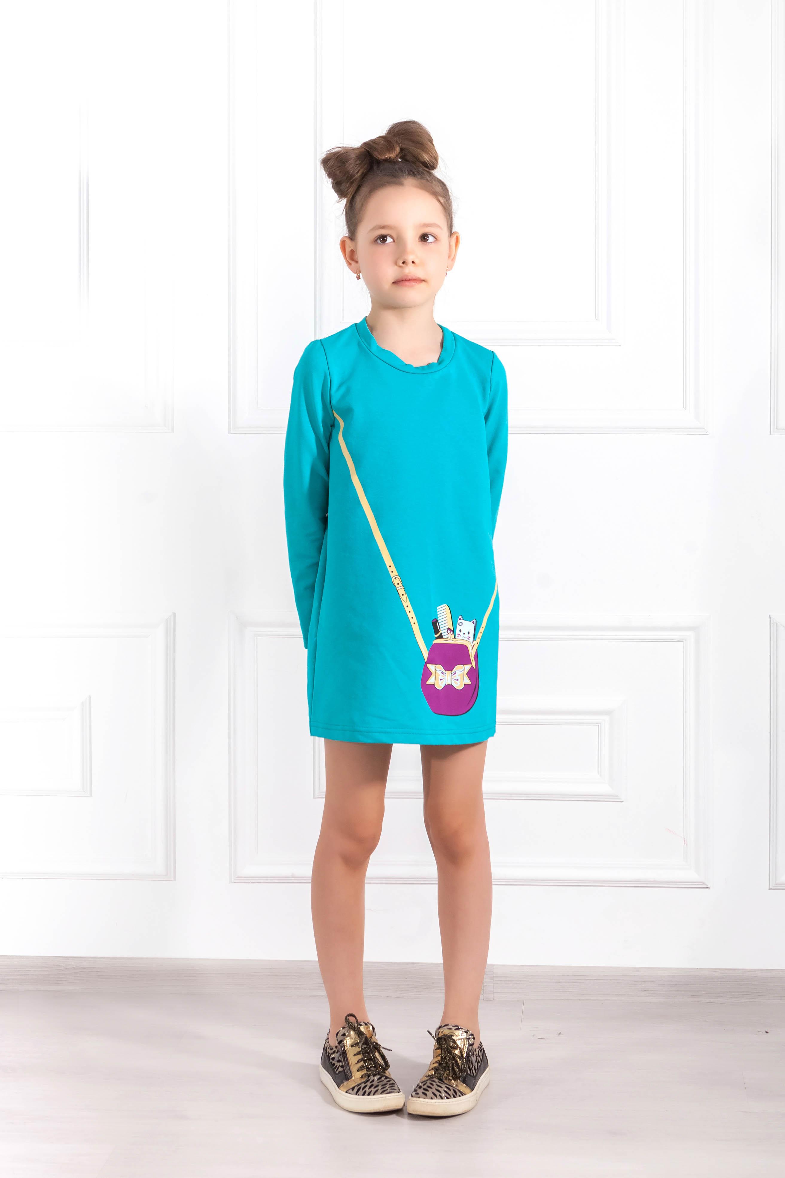 Детские туники, сарафаны Pastilla Туника Модница Цвет: Изумруд (6-7 лет) купить часы мальчику 7 лет