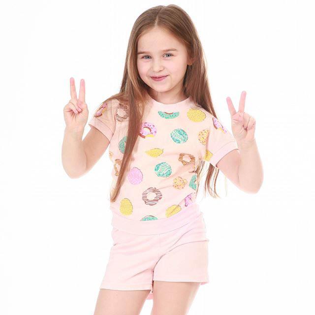 Детские пижамы Pastilla Детская пижама Лакомка Цвет: Пудровый (7 лет) пижама жен mia cara майка шорты botanical aw15 ubl lst 264 р 42 44 1119503