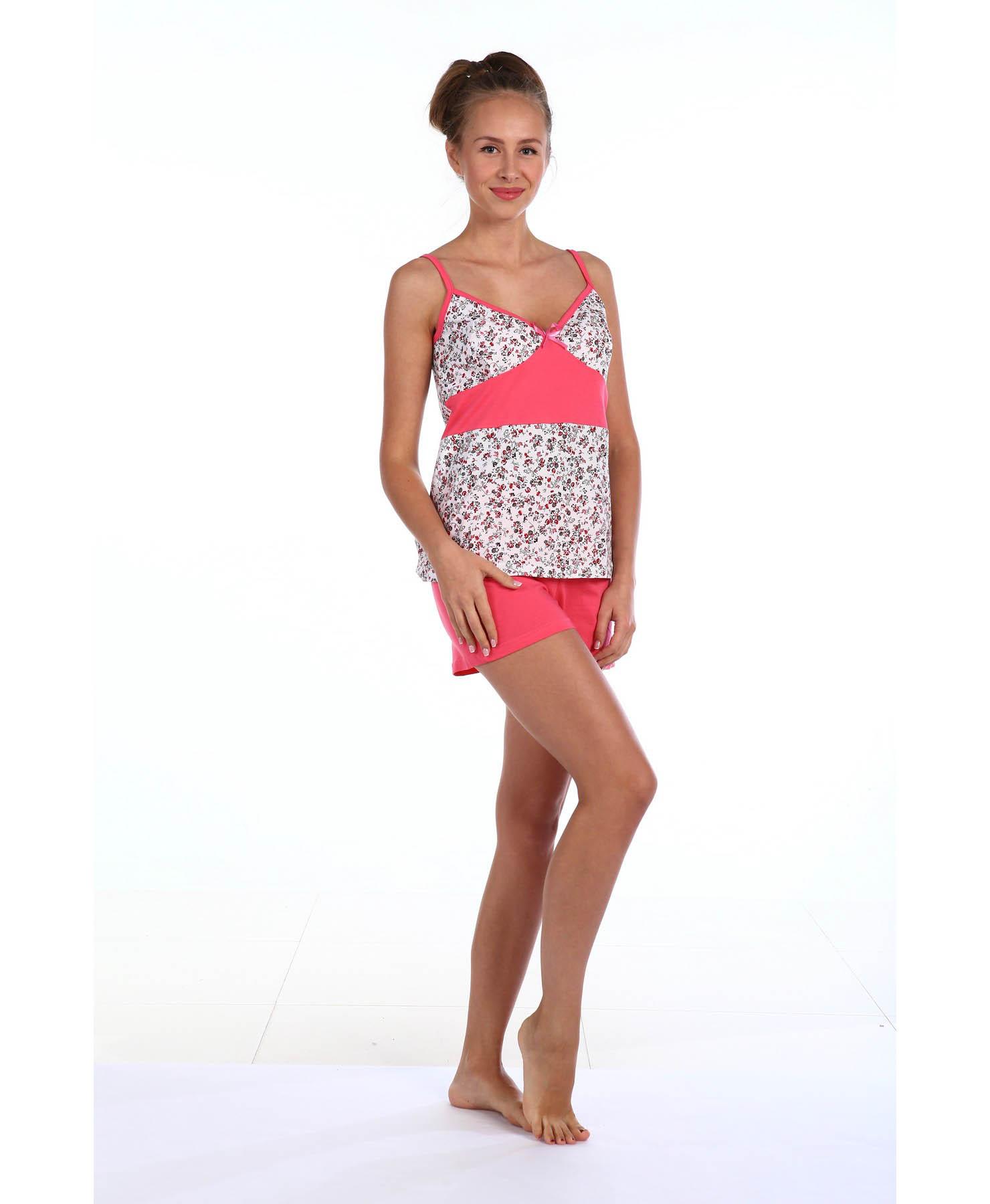Пижамы Pastilla Пижама Палермо 1 Цвет: Розовый (xL-xxL) пижамы mia cara пижама paulina цвет розовый xxl