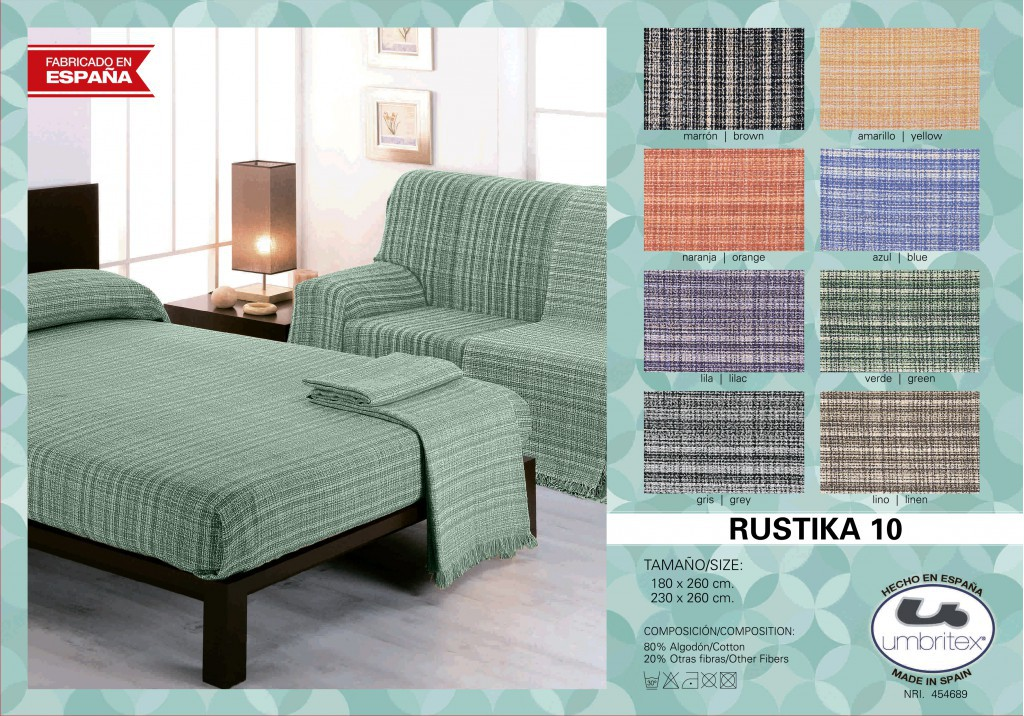 все цены на Покрывало Umbritex Покрывало Rustica Цвет: Зеленый (230х260 см) онлайн