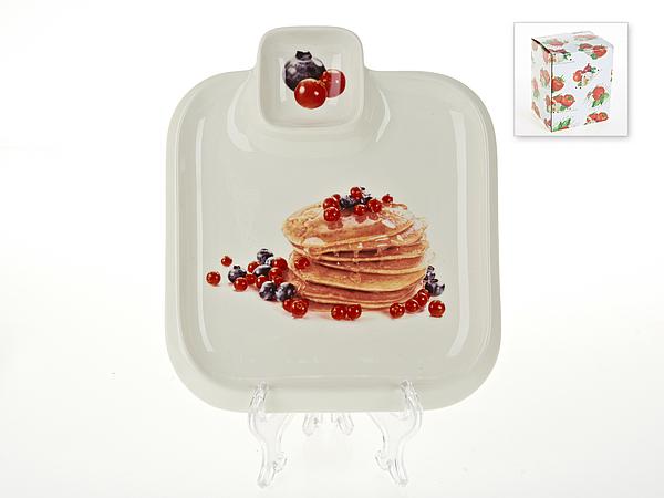 {} Best Home Porcelain Блюдо для блинов Масленица (3х20х23 см) россия блюдо 3 спопки