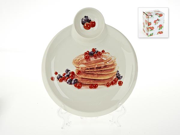 {} Best Home Porcelain Блюдо для блинов Масленица (3х25х28 см) россия блюдо 3 спопки