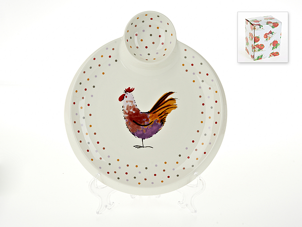 {} Best Home Porcelain Блюдо для блинов Петушок (3х25х28 см) россия блюдо 3 спопки