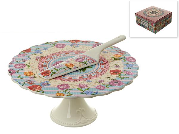 {} Nouvelle Подставка для торта Разноцветные Тюльпаны (Набор) блюда этажерки ambition трёх уровневая подставка для торта
