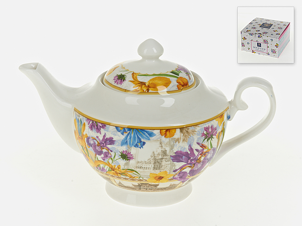 {} Nouvelle Заварочный чайник Ирис (16х16х26 см) чайник заварочный 1100 мл nouvelle чайник заварочный 1100 мл