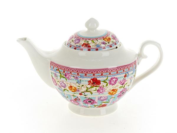 {} Nouvelle Заварочный чайник Разноцветные Тюльпаны (16х16х26 см) чайник заварочный 1100 мл nouvelle чайник заварочный 1100 мл