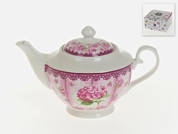 {} Nouvelle Заварочный чайник Розовая Гортензия (16х16х26 см) мицелий грибов вешенка розовая 16 древесных палочек