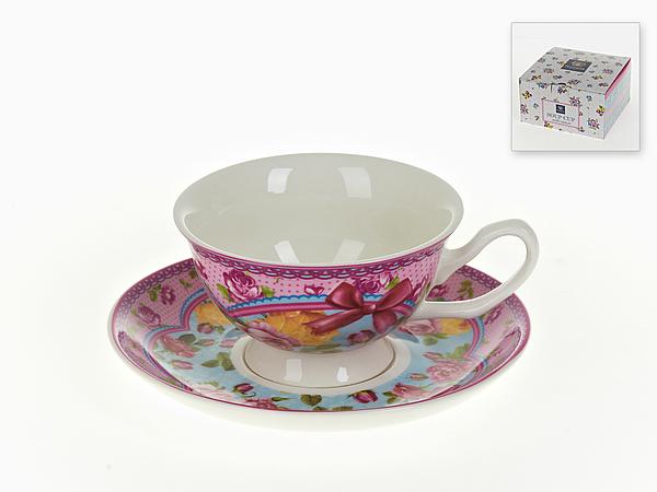 {} Nouvelle Чайная пара Розовый Нектар (180 мл) кружка nouvelle de france розовый нектар с подставкой 250 мл