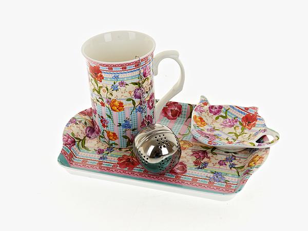 {} Nouvelle Чайный набор Разноцветные Тюльпаны (256 мл) набор чайный серия весенняя балет щелкунчик 3 пред фарфор