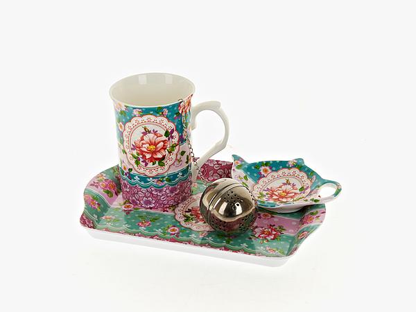 {} Nouvelle Чайный набор Цветочные Кружева (256 мл) чайный набор 4 предмета nouvelle сад m0661199