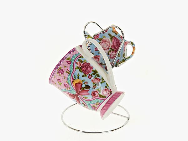 {} Nouvelle Чайный набор Розовый Нектар (256 мл) кружка радуга 305мл фарфор