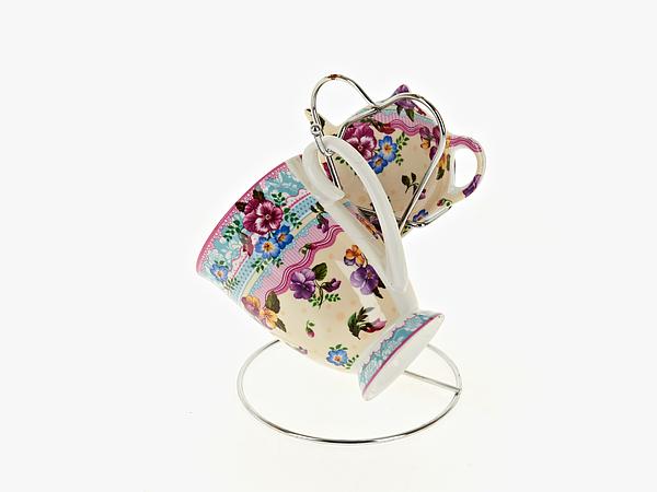 {} Nouvelle Чайный набор Версаль (256 мл) кружка радуга 305мл фарфор