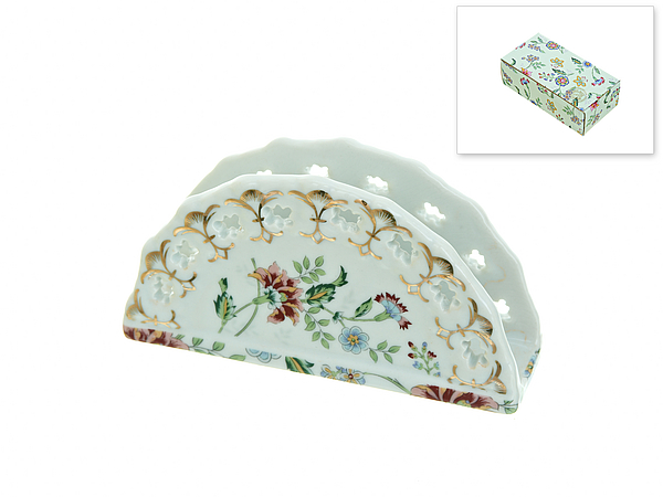 {} Best Home Porcelain Салфетница Альпийский Сад (4х7х14 см)