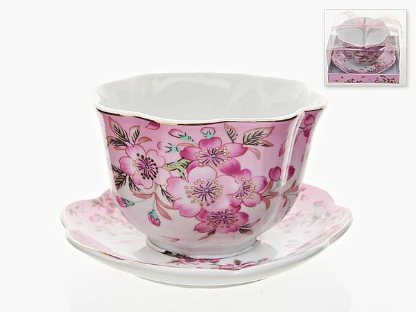 {} Best Home Porcelain Бульонница с блюдцем Яблоневый Цвет (400 мл) best home porcelain кружка яблоневый цвет 350 мл