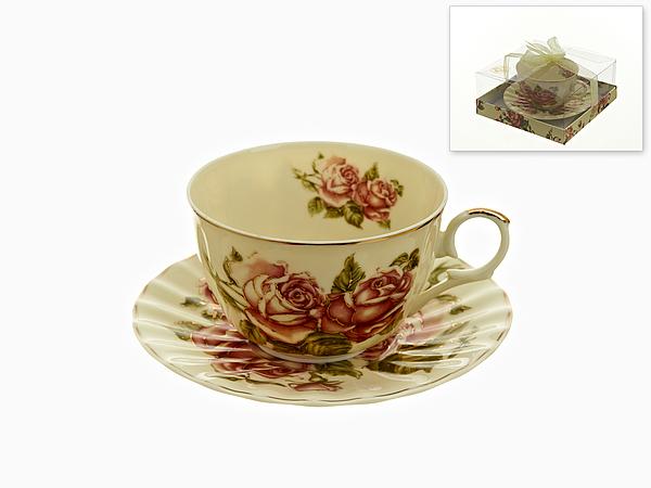 {} Best Home Porcelain Чайная пара Рубиновые Розы (250 мл) best home porcelain чайная пара альпийский сад 250 мл