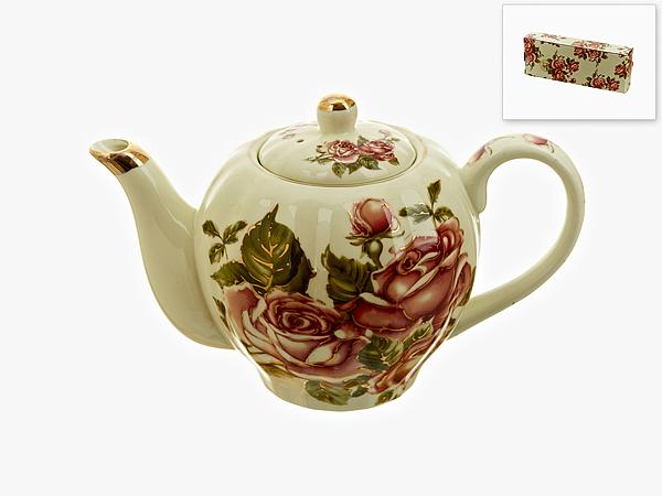 {} Best Home Porcelain Заварочный чайник Рубиновые Розы 1000 мл