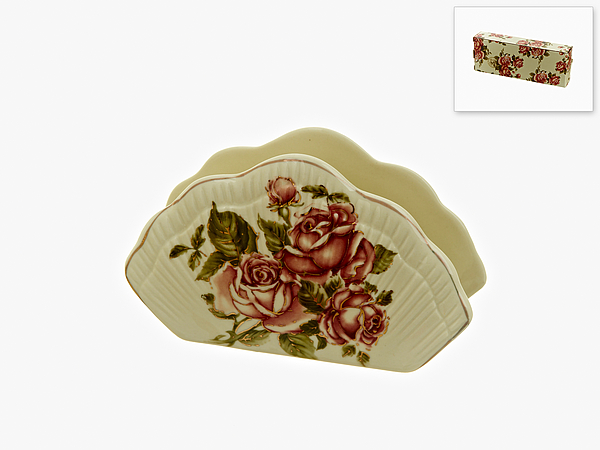 {} Best Home Porcelain Салфетница Рубиновые Розы (4х8х13 см)