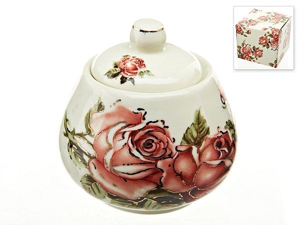 {} Best Home Porcelain Сахарница Рубиновые Розы (10х10 см) сахарница 17х11х12 см best home porcelain сахарница 17х11х12 см