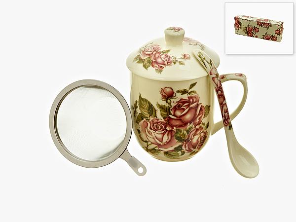 {} Best Home Porcelain Чайный набор Рубиновые Розы (300 мл) кружка amber porcelain 220 мл 214176