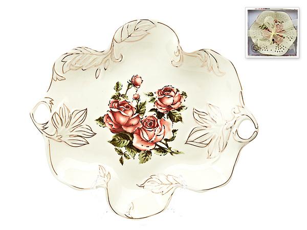 {} Best Home Porcelain Конфетница Рубиновые Розы (4х23х26 см)