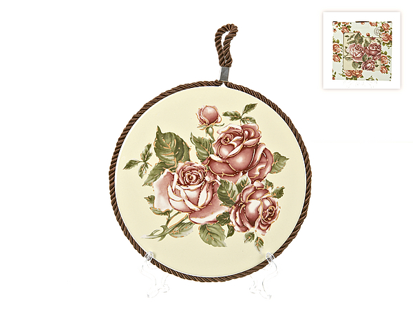 {} Best Home Porcelain Подставка под горячее Рубиновые Розы (1х17 см) пустышки nuk ортодонтическая силиконовая baby rose размер 2 6 18 мес