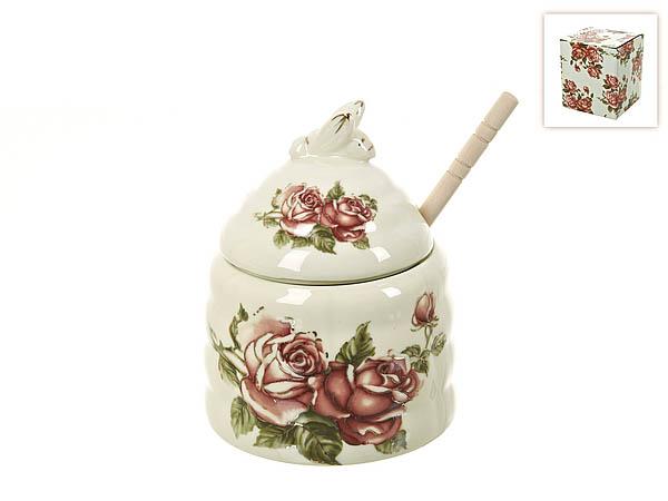 {} Best Home Porcelain Медовница Рубиновые Розы (10х13 см) best home porcelain салфетница рубиновые розы 4х8х13 см