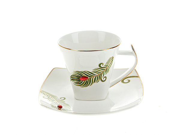 {} Best Home Porcelain Набор кружек Перо Жар-Птицы (180 мл) шкатулка холуй перо жар птицы николаева 779690